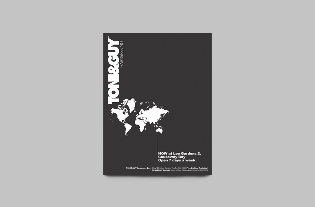 TONI&GUY Leaflet & Poster Design// TONI&GUY海報及傳單設計
