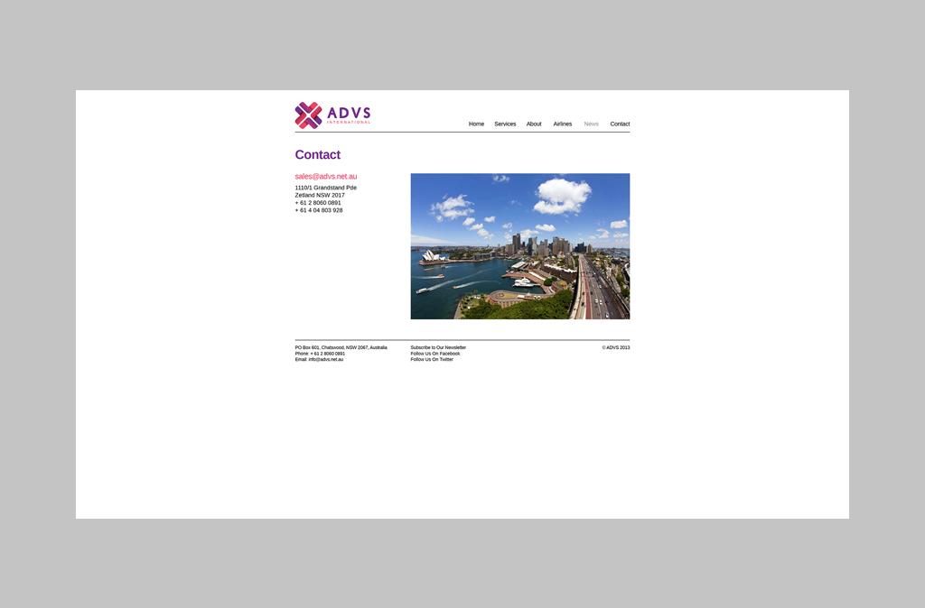 ADVS Website Design