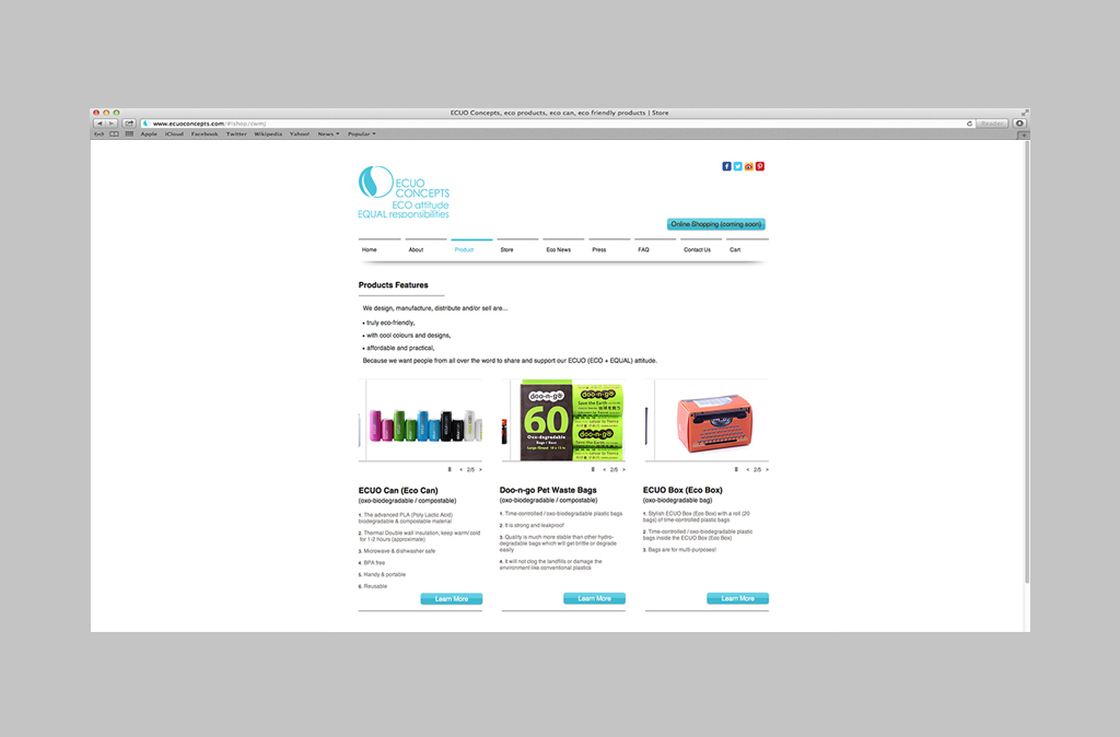 ECUO Website Design//ECUO網站設計